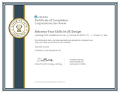 CertificateOfCompletion_Advance Your Skills in UX Design